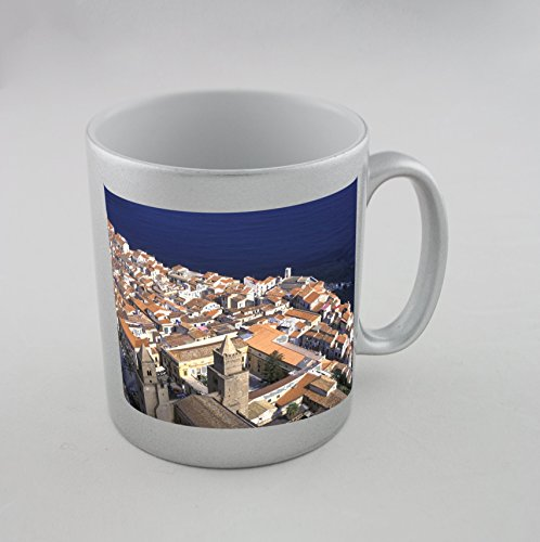 ITALY SICILY CEFALU THE OLD TOWN Silver Mug