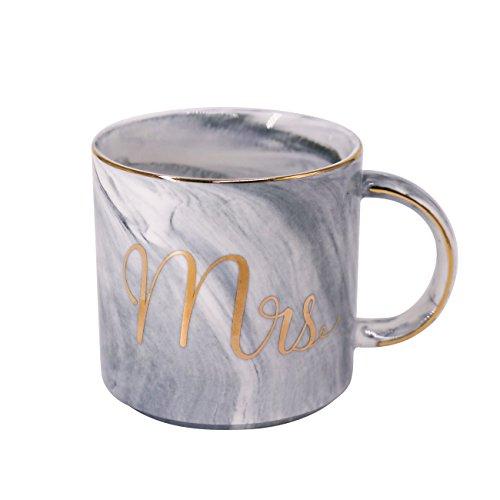 Couples Coffee Mug 13oz Ceramics - Unique Wedding Gift For Bride and Groom Ms