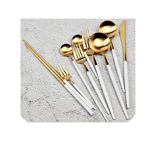 1 Piece Stainless Steel Dinnerware Set White Gold Black Knife Fork Tableware Cutlery Dinner Tableware Kitchen AccessoriesDessert Knife