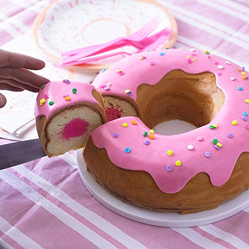 Giant Donut Cake Pan Kit - Includes 10 Donut Pan Fondant Sprinkles Instructions