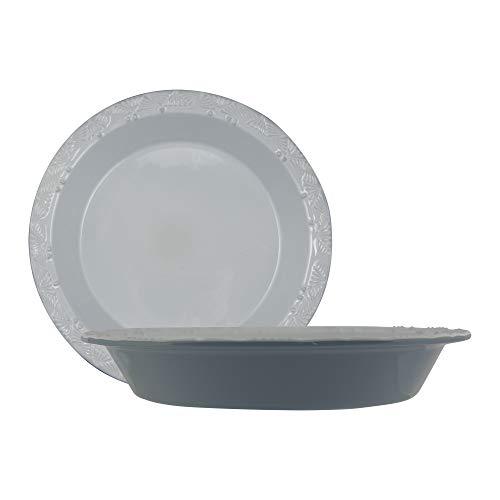 Taste of Home Set of 2-9 x 15 inch Stoneware Pie Plate