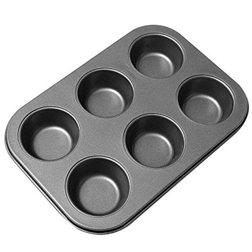 Cupcake Muffin Pans Baking Trays 6 Cups DIY Non-stick Steel Cake Egg Tart Baking Mold