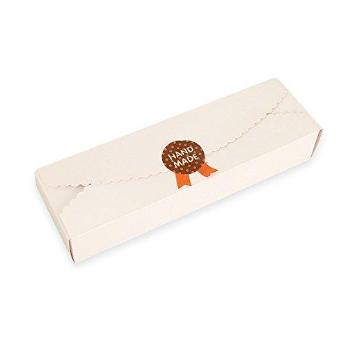 Set of 3 Long Lace Egg Tart Baking Box Cake Chocolate Candy Biscuit Kraft Paper Box DIY Gift Box