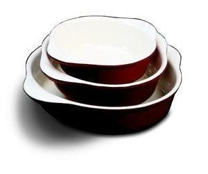 Paderno World Cuisine Red Enamel Cast Iron Round Casserole Dish 125 Quart