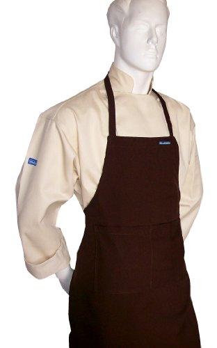 Chocolate Brown Apron White Hat Baby Toddler Kid Children Chef Set Lite Fabric