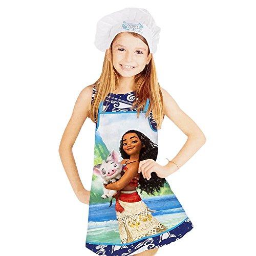 Kids Disney Moana Little Chef apron and cap set