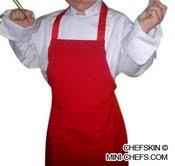 Red Apron White hat Baby Toddler Kid Children Chef Set Lite Fabric