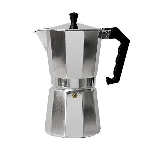 Allrise Aluminum Stovetop Espresso Latte Mocha Coffee Maker 12-Cup