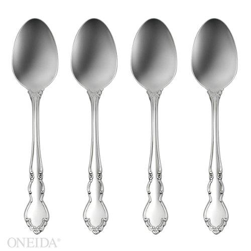 Oneida Dover Fine Flatware Set 1810 Stainless Set of 4 Teaspoons