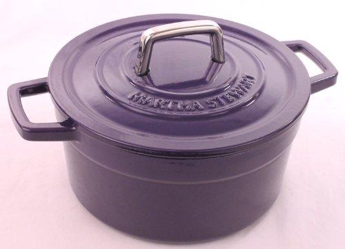 Purple Eggplant Enameled Cast Iron 3 Qt Round Dutch Oven Casserole