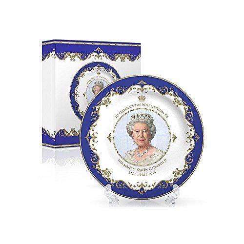 Queen Elizabeth II 90th Anniversary Commemorative Bone China Plate 4