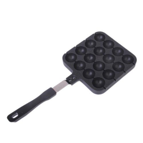 16 Holes Nonstick Cast Aluminum Alloy Baking Tray Takoyaki MakerAebleskiver PanTo Make Japanese Takoyaki Octopus Ball