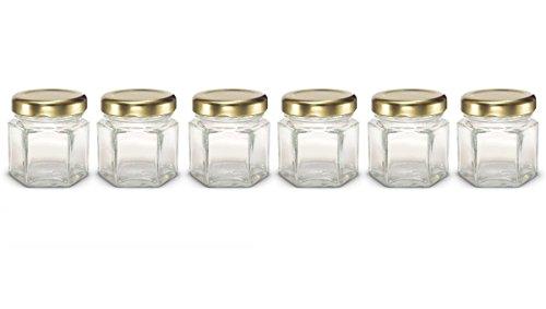 Healthcom 6 Pcs 15 Oz Mini Canning Jars Wide Mouth Quart Jars Clear Glass Jars Mason Jars With Lids and BandsBlack Lid