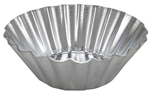 Egg Tart 12 Pieces Aluminum Cupcake Mold Cookie Tin Baking Tool - Choose Size