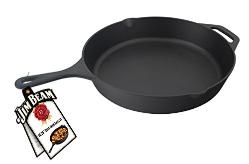 Jim Beam 1025 Inch Pre Seasoned Cast Iron Round Skillet With Handle