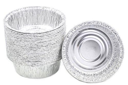 Disposable Foil 4-38 Mini Pot Pie Food Mini Pie Tart Pans and 1 Pastries Pack of 25 Pcs