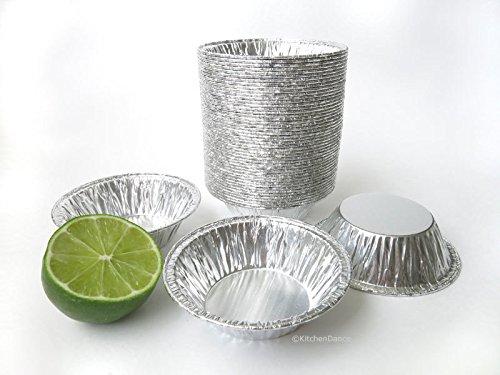 KitchenDance 3 Disposable Aluminum Tart PansMini Pie Pans 301- Pack Of 100