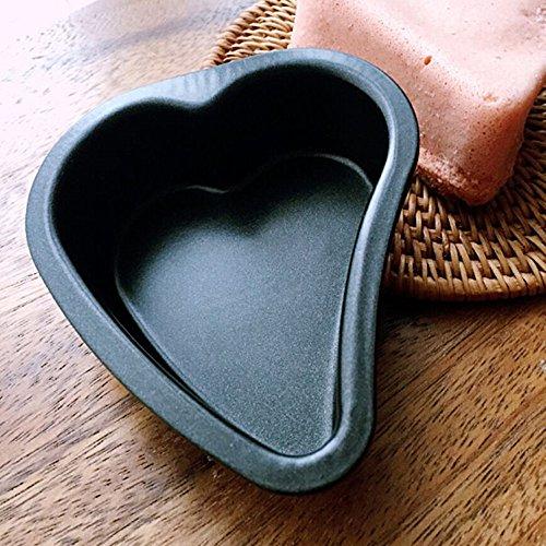 RICHELE 6 Pack Nonstick Mini Pie Pans 2 inch Heart Shaped Pan Springform Cake Pan 6 Pack