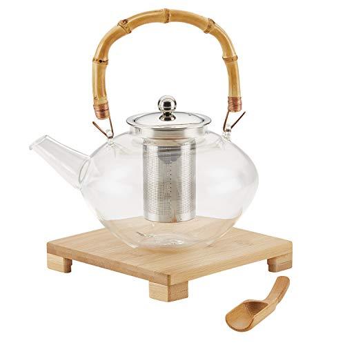 BonJour 47952 Zen Borosilicate Glass Teapot 1 Piece