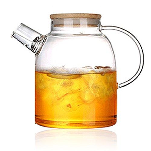 Tealife Good Glass Teapot Borosilicate Glass Tea Pots Stovetop Safe60 Ounce1800 ml 1800ml