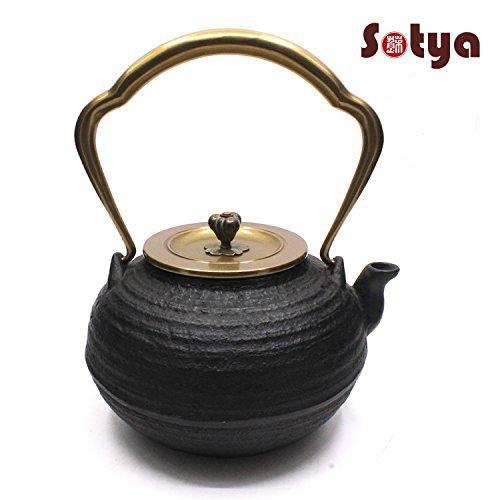 Cast Iron Teapot Sotya Tetsubin Japanese Tea Kettle with Insulation Handle 1200ml40oz