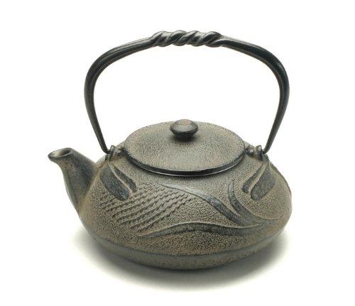 Kotobuki 480-318 Japanese Iron Tetsubin Teapot Antique Dragonfly Brown