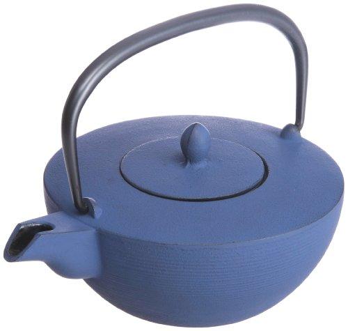 Iron teapot fine line Choshi bluish purple 10260 japan import