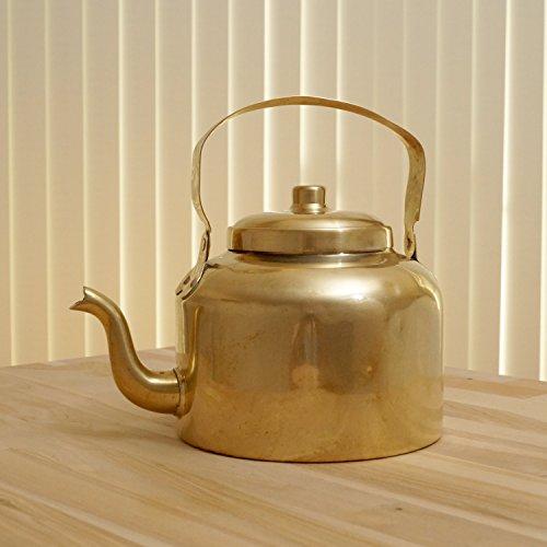 Vintage brass tea  coffee pot  kettle with lid