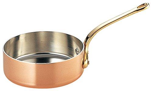 SW copper Thick shallow saucepan Futana  brass pattern 21‡p gazelle