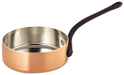 SW copper Thick shallow saucepan Futana  iron pattern 30cm gazelle