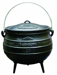 Best Duty Cast Iron Potjie Pot Size 20