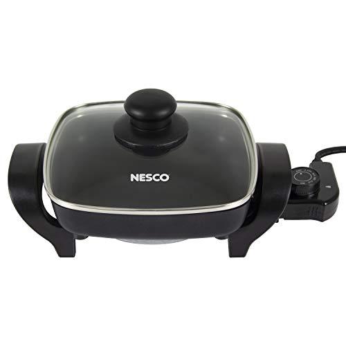 Nesco Black ES-08 Electric Skillet 8 inch 800 watts
