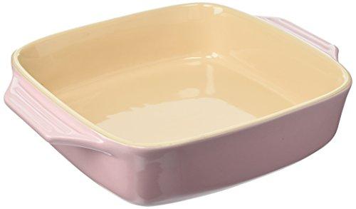 Le Creuset Stoneware Covered Square Casserole 2 34 Quart Chiffon Pink
