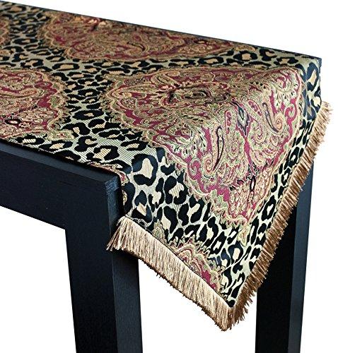 Sherry Kline Tangiers Luxury Table Runner 18 X 108 BlackMulticolor