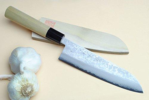 Yoshihiro VG10 Stainless Steel 16 Layers Damascus Gyuto Japanese Chef's Knife - 7 180mm