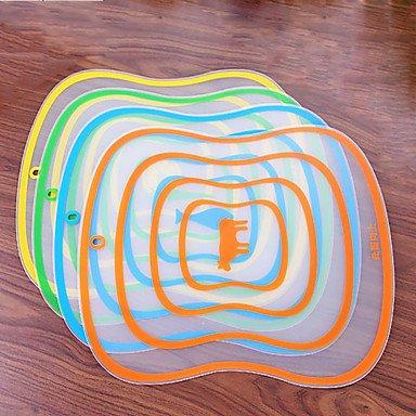 Flexible Block Wear Soft Antibacterial Chopping Board Plastic Cutting BoardRandom Color
