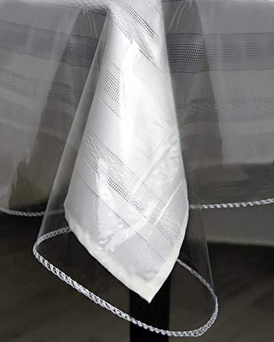 Tablecloth Protector Crystal Clear Vinyl 52x70 Oblong