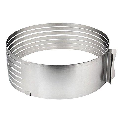 Awakingdemi Adjustable Stainless Steel Mousse Mould Layer Cake Slicer Kit Layered Slicer Cake Ring Set Baking Tool Kit