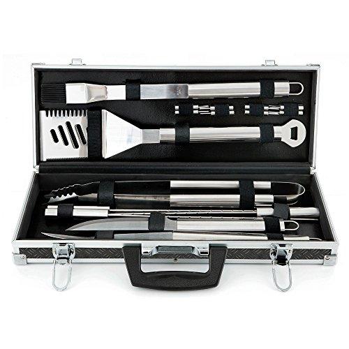 Mr BBQ 18-piece Platinum Prestige Stainless Steel Tool Set