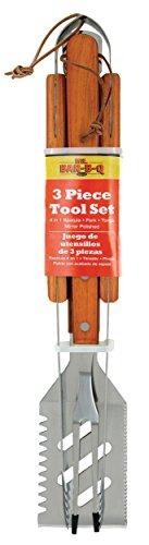 Mr Bar B Q 02295YNST 3-Piece Stainless Steel Tool Set