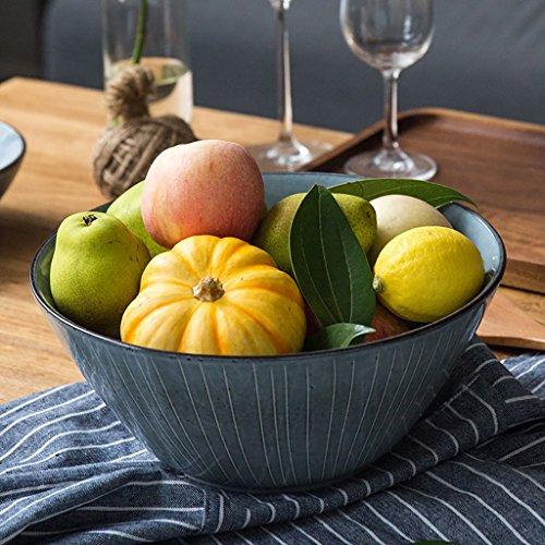 Creative Ceramic Bowl Tableware Fruit Salad Ramen Soup Big Bowl