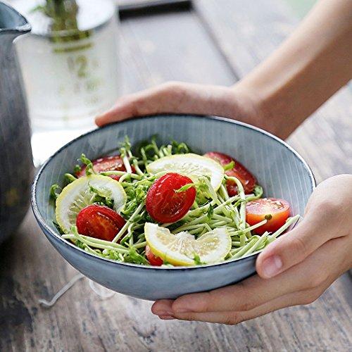 European Style Retro Creative Ceramic Bowl Home Tableware Salad Ramen Soup Bowl Fruit Plate