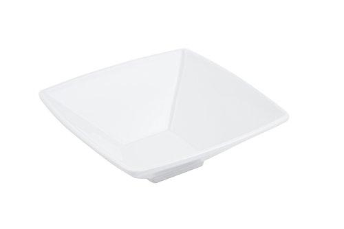Bon Chef 53503 Melamine Square Bowl 12 oz Capacity 6-38 Length x 6-38 Width x 2-14 Depth White