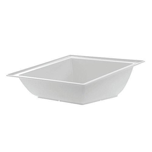 Dalebrook Angled Melamine Square Bowl in White 14 34L x 3 34H
