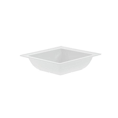 Dalebrook Melamine Square Bowls in White 11 14L x 3 12H