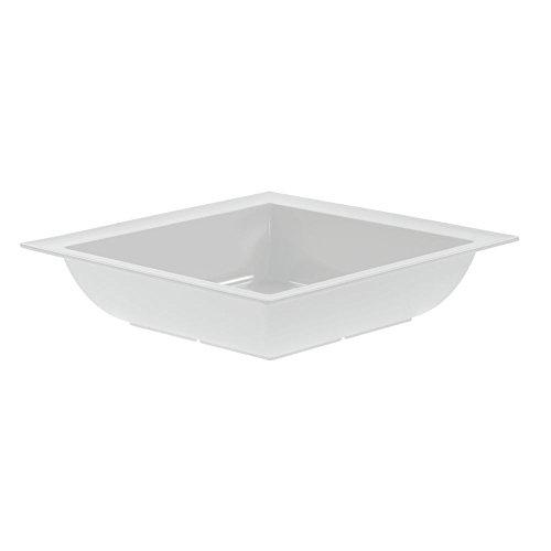 Dalebrook Melamine Square Bowls in White 14 34L x 3 12H