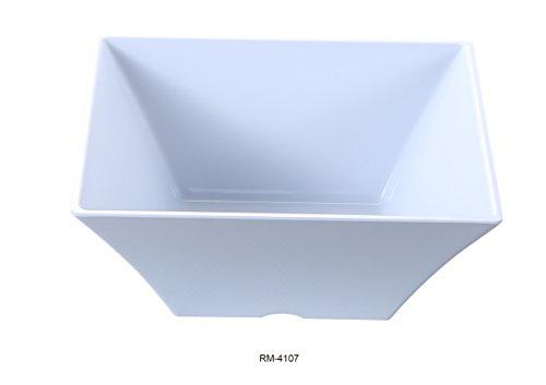 Yanco Rome Collection Melamine Square Bowl 48 Oz 7 12 BOX of 24