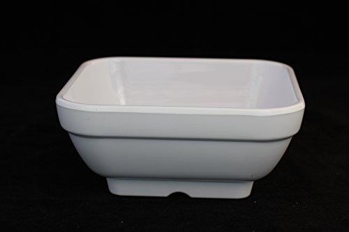 Z-Moments Western Melamine 8280 12-ounce Square Bowl 4-34-Inch White 12-pcs per case 1 dozen