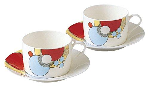Noritake bone china Frank Lloyd Wright design tableware tea and coffee porcelain bowl plate pair set P972824614 japan import