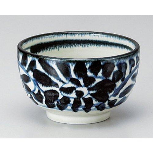 Ramen Soba Udon Noodle Bowl utw380-17-114 5 x 3 inch Japanece ceramic Indigo arabesque 40 heavy bowl tableware